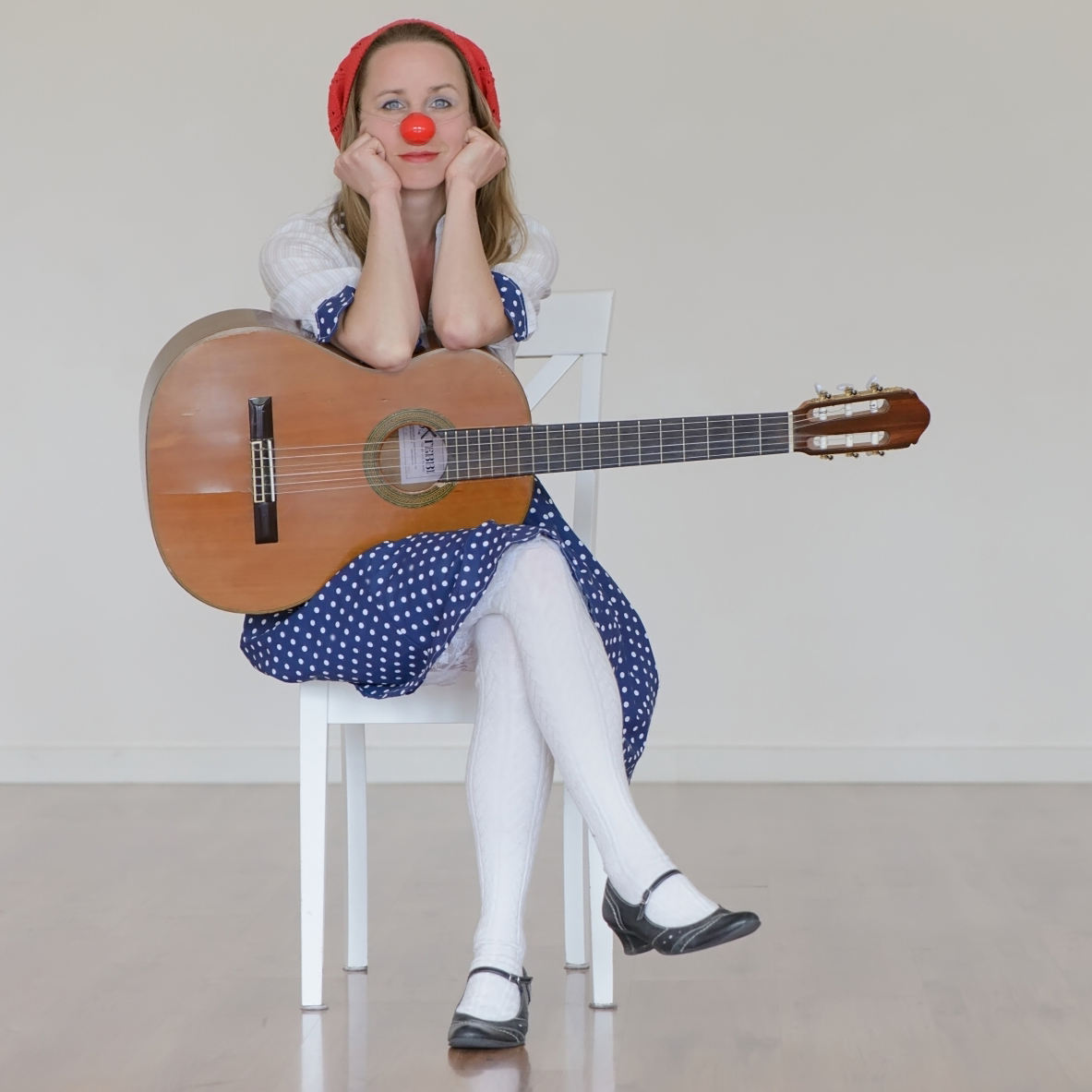 Heike Laub als Musikclownin Florentine Dibbelabbes